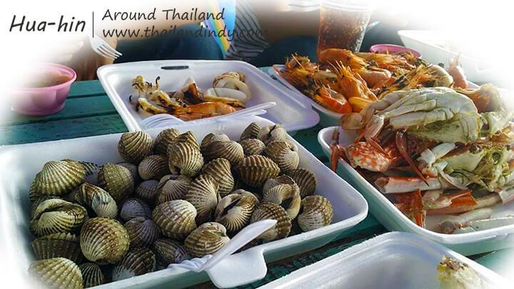 อาหารทะเลจากสะพานปลาหัวหิน