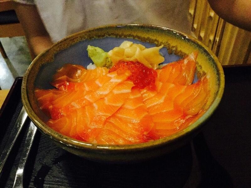 ชุดข้าวปลาแซลมอน