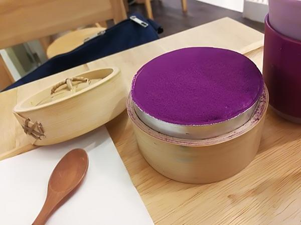 tiramisu sweet purple potato ทีรามิสุมันม่วง Cafe bora paragon